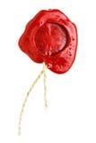 Cera de lacre roja con la cuerda Fotos de archivo libres de regalías