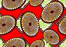 Cera eccellente del tessuto africano della stampa di modo del tessuto illustrazione di stock