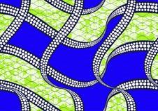 Cera eccellente del tessuto africano della stampa di modo del tessuto illustrazione vettoriale