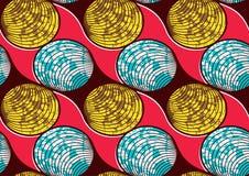 Cera eccellente del tessuto africano della stampa di modo del tessuto royalty illustrazione gratis