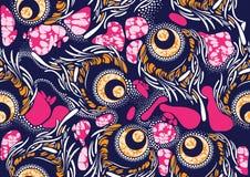 Cera estupenda de la tela africana de la impresión de la moda de la materia textil stock de ilustración