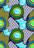 Cera estupenda de la tela africana de la impresión de la moda de la materia textil libre illustration