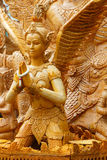 Cera tailandese della candela di stile che scolpisce nel festival tradizionale della processione della candela di Buddha Fotografie Stock Libere da Diritti