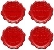 Cera vermelha: qualidade, certificado, relatório, sistema, ferramentas Fotos de Stock Royalty Free