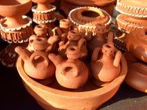 Ceramic. Traditional Turkish handcraft ceramic pots Stock Photos