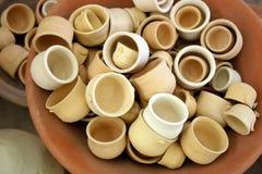 Ceramic. Cups stock photo