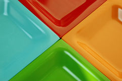 Ceramic abstract. Four colorful ceramic plates in abstract design Stock Photo