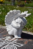Ceramic angel, guarding angel cemetery,  Royalty Free Stock Photography