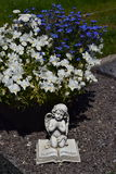 Ceramic angel, guarding angel cemetery,  Stock Image