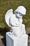 Ceramic angel, guarding angel cemetery, sleeping angel cemetery, dreaming angel cemetery, angel made from ceramic, angel cemetery Stock Photo