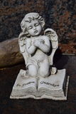 Ceramic angel, guarding angel cemetery, sleeping angel cemetery, dreaming angel cemetery, angel made from ceramic, angel cemetery Stock Image