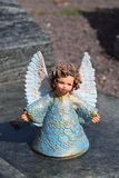 Ceramic angel, guarding angel cemetery, sleeping angel cemetery, dreaming angel cemetery, angel made from ceramic, angel cemetery Royalty Free Stock Images