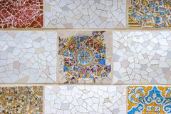 Ceramic art in Park Guell Royalty Free Stock Photo