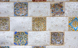 Ceramic art in Park Guell Stock Image