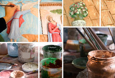 Ceramic art studio Stock Image