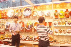Ceramic arts and crafts exhibition sales Stock Photography