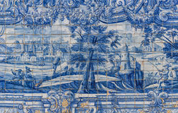 Ceramic Azulejos in Porto cathedral - Portugal Royalty Free Stock Photos