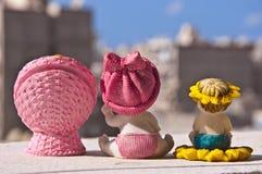 Ceramic Baby Children. Baby Ceramic Children From Backside Stock Photos