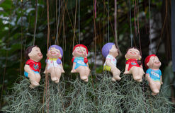 Ceramic baby dolls. Stock Photography