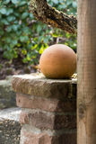 Ceramic ball as garden decoration Royalty Free Stock Photos