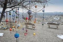 Ceramic Balls. Hanged on tree in Cappadocia Turkey Stock Photography