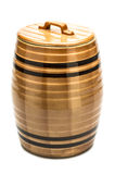 Ceramic barrel a white background. Ceramic barrel with honey on a white background Royalty Free Stock Photos