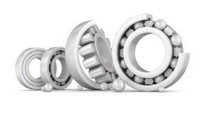 Ceramic bearings group. Over white Stock Photos