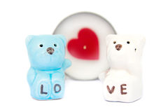 Ceramic bears love Stock Photos