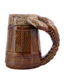 Ceramic beer mug Royalty Free Stock Photo