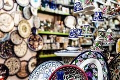 Ceramic bells as souvenir from Jerusalem, Israel. Royalty Free Stock Image