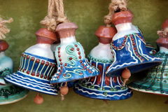 Ceramic traditional colored pottery, Romania Royalty Free Stock Photo