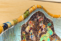 Ceramic Bench Park Guell - Barcelona Spain Stock Image