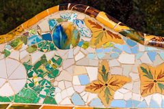 Ceramic Bench Park Guell - Barcelona Spain Royalty Free Stock Image