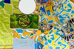 Ceramic Bench Park Guell - Barcelona Spain Royalty Free Stock Photos