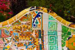 Ceramic Bench Park Guell - Barcelona Spain Royalty Free Stock Photo