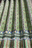 Ceramic   in the big wall temple bangkok  abstract Royalty Free Stock Images