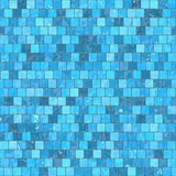 Ceramic blue mosaic background seamless texture in swimming pool or kitchen.  Royalty Free Stock Photo