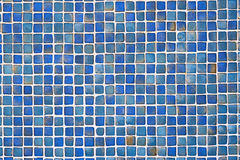 Ceramic Blue Tile Wall Background Stock Photos