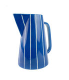 Ceramic Blue and White Stripes Milk Jug Royalty Free Stock Image