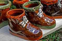 Ceramic boots Royalty Free Stock Image