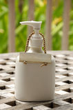 Ceramic Bottle with Empty Hanger royalty free stock image