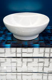 Ceramic bowl in a bathroom Royalty Free Stock Images