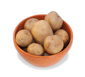 Ceramic bowl with boiled potatoes Royalty Free Stock Photography