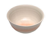 Ceramic bowl-clipping path Stock Photography