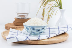 Ceramic bowl containing rice. Royalty Free Stock Images