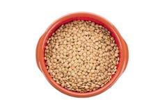 Ceramic bowl with green lentil Stock Photos