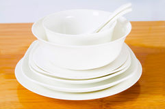 Ceramic bowl and plate Stock Images