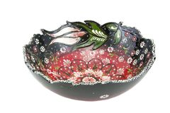Ceramic Bowl. Turkey Kutahya çini kase. Ceramic is the name for materials that are formed by the use of heat. The word ceramic comes from the Greek word Stock Photos
