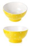 Ceramic bowl on white Royalty Free Stock Photography
