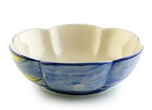 Ceramic bowl on white background Royalty Free Stock Image